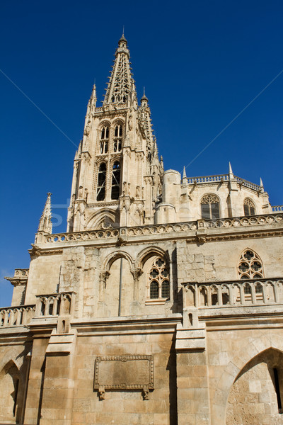 The South Face of Burgos Gothic Cathedral. Spain Stock photo © Photooiasson
