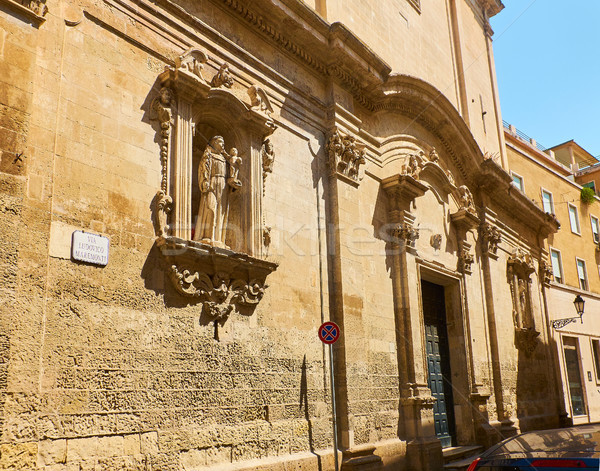 Santo Antonio della piazza church of Lecce. Puglia, Italy. Stock photo © Photooiasson