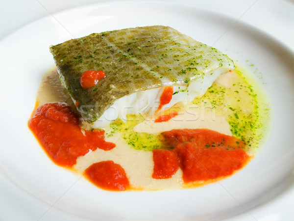 Cod in green sauce, Basque cookery. Stock photo © Photooiasson