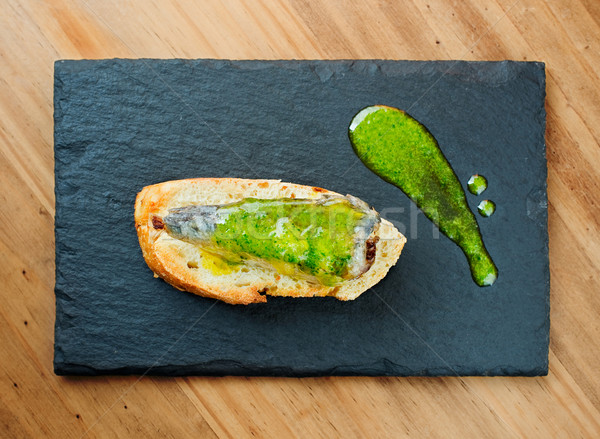 Typique espagnol plaque poissons bar pays Photo stock © Photooiasson