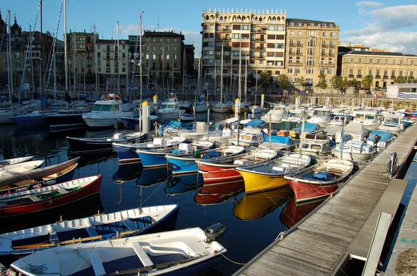 市 自然 海 海 青 フラグ ストックフォト © Photooiasson