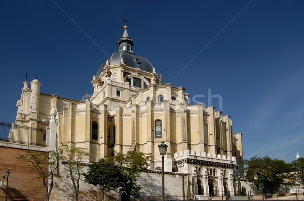 Stock fotó: Katedrális · Madrid · Spanyolország · oldal · kő
