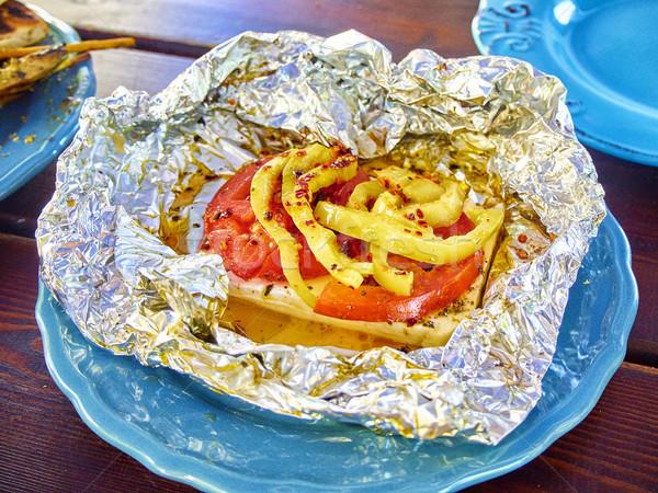 Grillés feta typique grec tomates poivrons Photo stock © Photooiasson