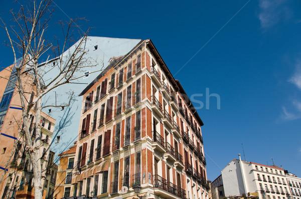 Foto stock: Edifício · fachada · pintado · praça · Madri · Espanha
