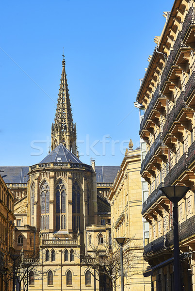 Buen Pastor Cathedral of San Sebastian. Gipuzkoa, Basque Country Stock photo © Photooiasson