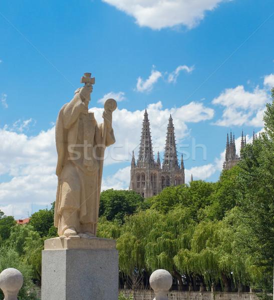 Statue of Jeronimo de Perigord, Burgos. Spain Stock photo © Photooiasson