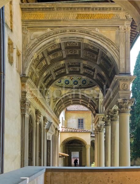 вход базилика Флоренция Италия галерея Сток-фото © Photooiasson