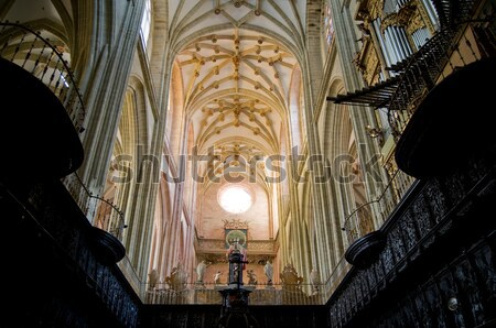The Choir and Organ in Santa Maria Cathedal of Astorga. Spain Stock photo © Photooiasson