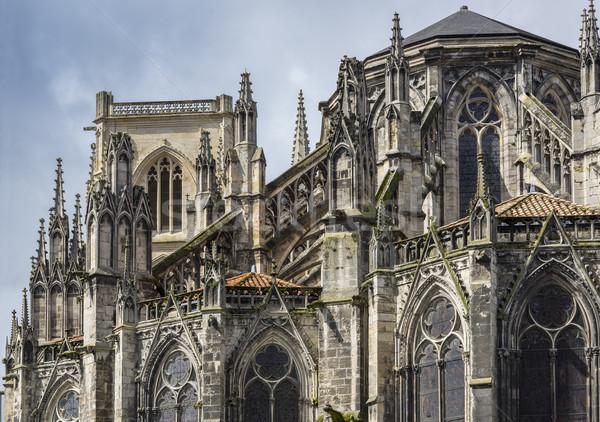 Katedrális Bordeau Franciaország szent gótikus Európa Stock fotó © Photooiasson