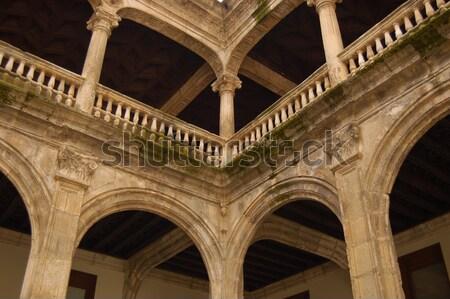проход внутри новых собора Испания колонн Сток-фото © Photooiasson