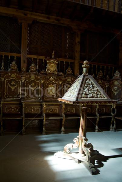 Catedral coro luz ventana iglesia Biblia Foto stock © Photooiasson