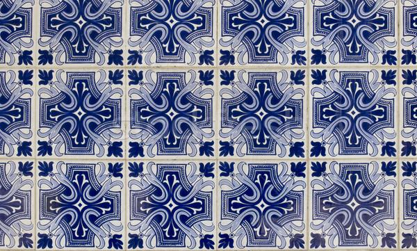 Antiquiteiten tegels hand geschilderd Portugal muur Stockfoto © Photooiasson