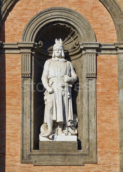 Statue Italie romaine empereur façade Photo stock © Photooiasson
