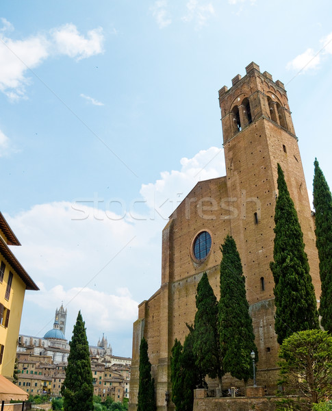 The Basilica of San Domenico. Siena, Italy Stock photo © Photooiasson