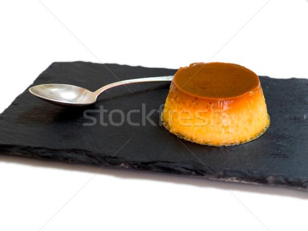 Karamel vla plaat koken Europa eten Stockfoto © Photooiasson