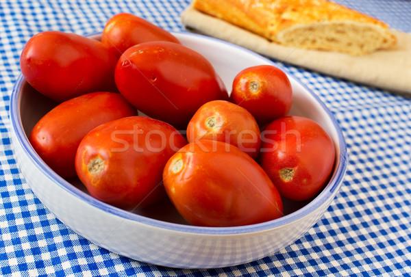 Domates akdeniz plaka tablo gıda domates Stok fotoğraf © Photooiasson