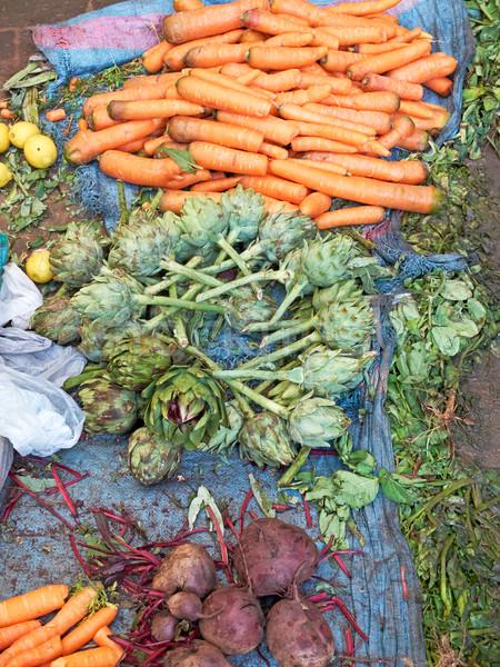 Piac ökológiai friss afrikai étel zöld Stock fotó © Photooiasson