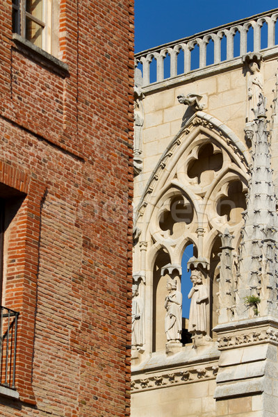 Details of The North Face of Burgos Cathedral. Spain Stock photo © Photooiasson