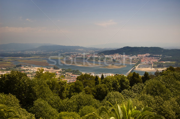 Heuvel lima rivier Portugal Stockfoto © Photooiasson