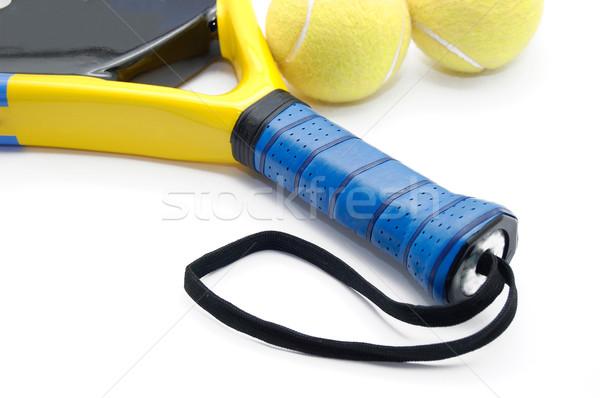 ütő fitnessz egészség tenisz játék szabadidő Stock fotó © Photooiasson