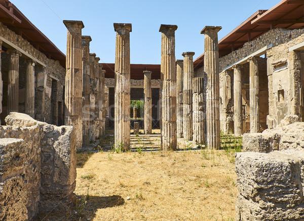 Ruinas antigua romana ciudad Italia destruido Foto stock © Photooiasson