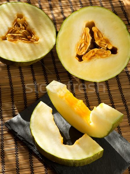 Melon Madryt plastry wiejski wybór typowy Zdjęcia stock © Photooiasson