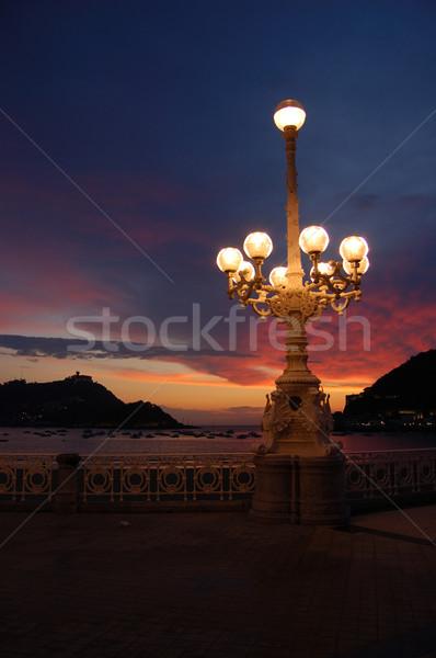 Miraconcha Avenue in San Sebastian at sunset. Spain Stock photo © Photooiasson