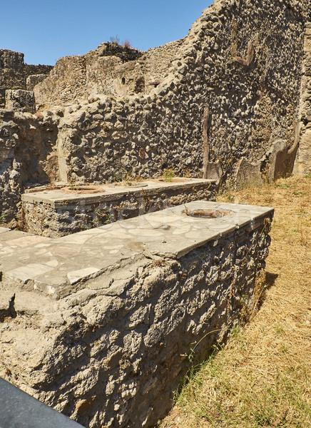 Ruins of Pompeii, ancient Roman city. Pompei, Campania. Italy. Stock photo © Photooiasson