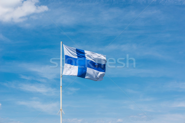 Flag of Finland. Stock photo © Photooiasson