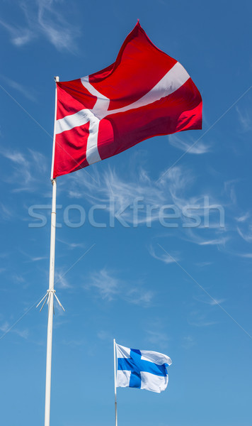Flags of Denmark and Finland. Stock photo © Photooiasson