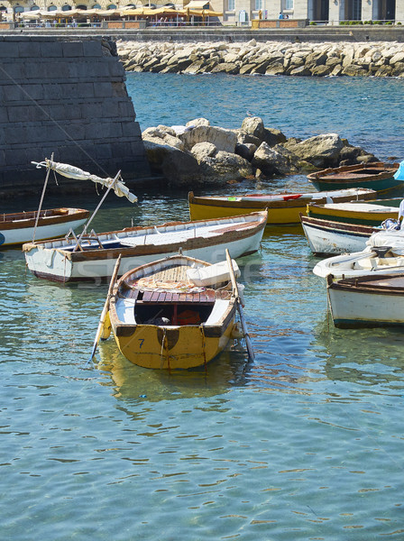 Fishing boats moored in Borgo Marinari harbor. Naples, Italy. Stock photo © Photooiasson