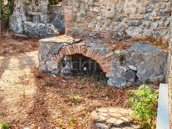 Ruinas antigua romana ciudad Italia cocina Foto stock © Photooiasson