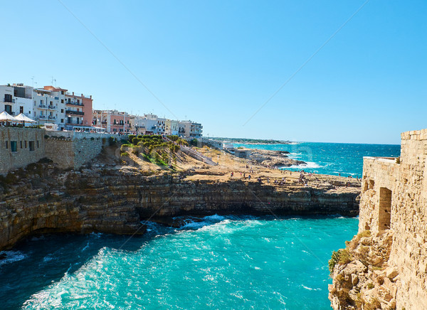 Pietra Piatta of Polignano a Mare. Apulia, Italy. Stock photo © Photooiasson