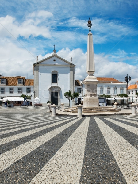 Praca Marques de Pombal. Vila Real de Santo Antonio, Algarve. Portugal. Stock photo © Photooiasson