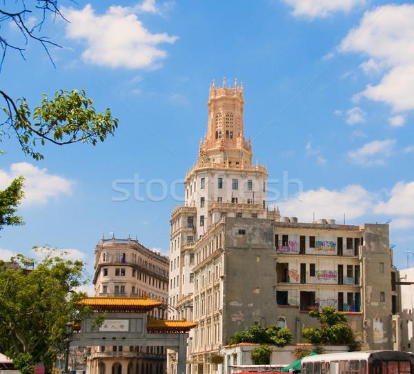 Chinatown in La Havana, Cuba. Stock photo © Photooiasson