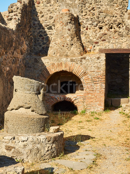 Ruins of Pompeii, ancient Roman city. Pompei, Campania. Italy. Stock photo © Photooiasson