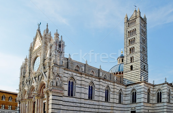Facade and belfry of the Siena Duomo. Tuscany, Italy Stock photo © Photooiasson
