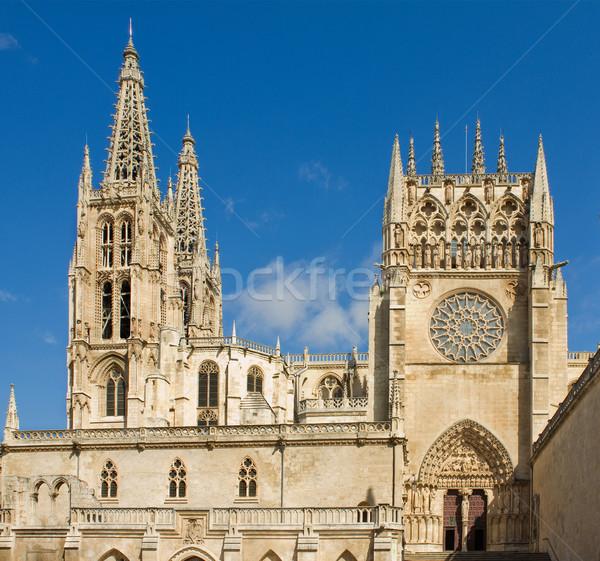 Sarmental Facade of Burgos Gothic Cathedral. Spain Stock photo © Photooiasson