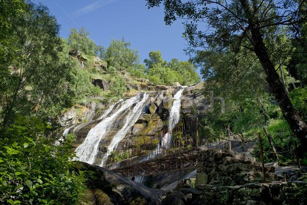 Vízesés Spanyolország erdő természet hegy Európa Stock fotó © Photooiasson