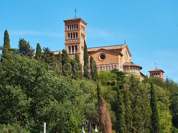 The Pontifical University of Santo Anselmo of Rome. Lazio, Italy. Stock photo © Photooiasson