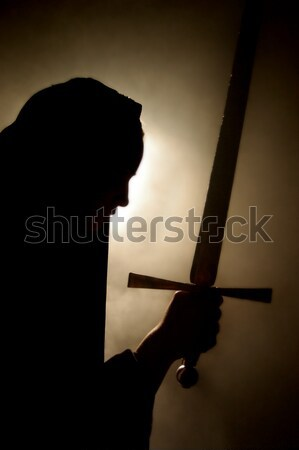 Arabian woman appearance with a sword in hand. Stock photo © Photooiasson