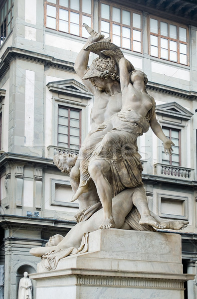 The Rape of Polyxena sculpture in Loggia della Signoria. Florenc Stock photo © Photooiasson