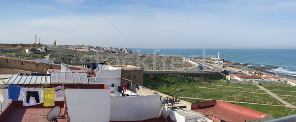 Udayas kasbah lighthouse in the Atlantic coast of Rabat, Morocco Stock photo © Photooiasson