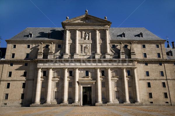 Koninklijk klooster Madrid Spanje gebouw Stockfoto © Photooiasson