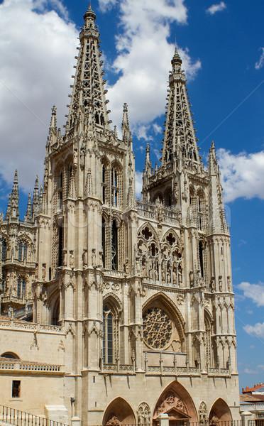 Principal Facade of Burgos Gothic Cathedral. Spain Stock photo © Photooiasson