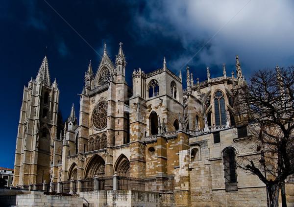 Katedrális Spanyolország művészet templom hajó építészet Stock fotó © Photooiasson