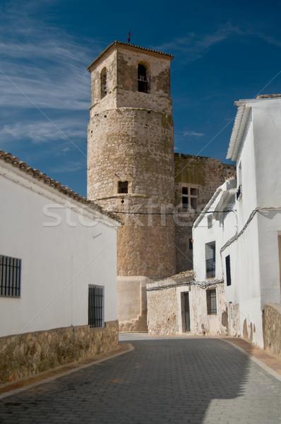Tájkép kastély építészet történelem torony város Stock fotó © Photooiasson