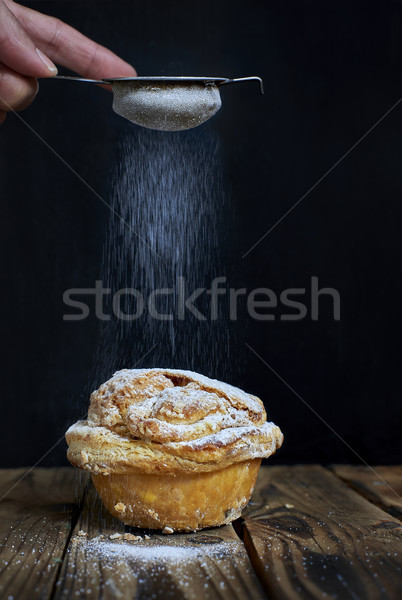 Mirliton cupcake, traditional sweet of France and Basque Country, Spain. Stock photo © Photooiasson