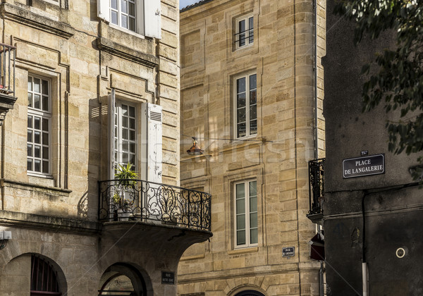 Langalerie square of Bordeaux, Aquitaine. France. Stock photo © Photooiasson