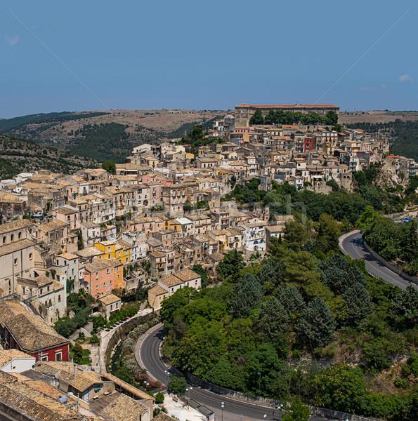 Cityscape sicília Itália verão arquitetura cultura Foto stock © Photooiasson